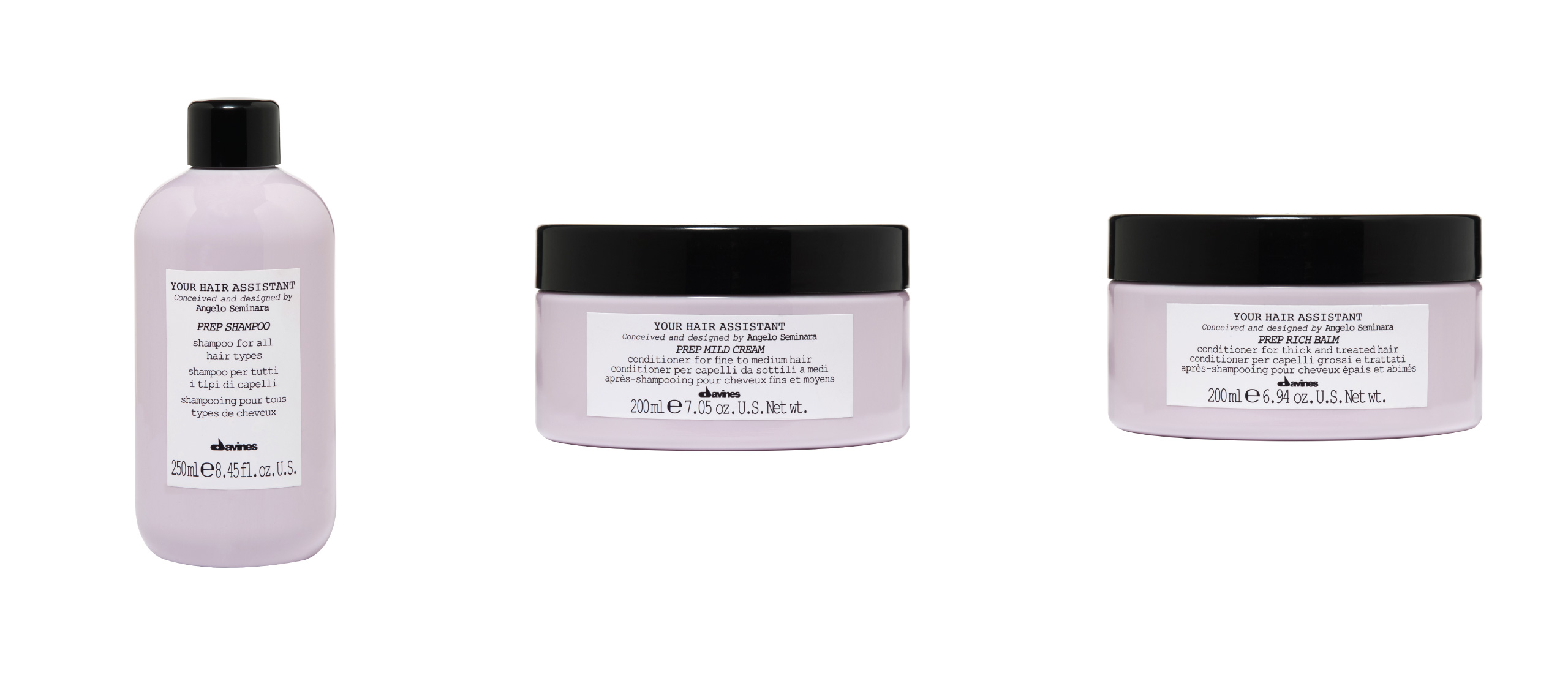 Davines Your Hair Assistant Prep Products