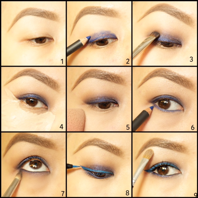 How To Blue Eye Makeup Penzone Salons Spas