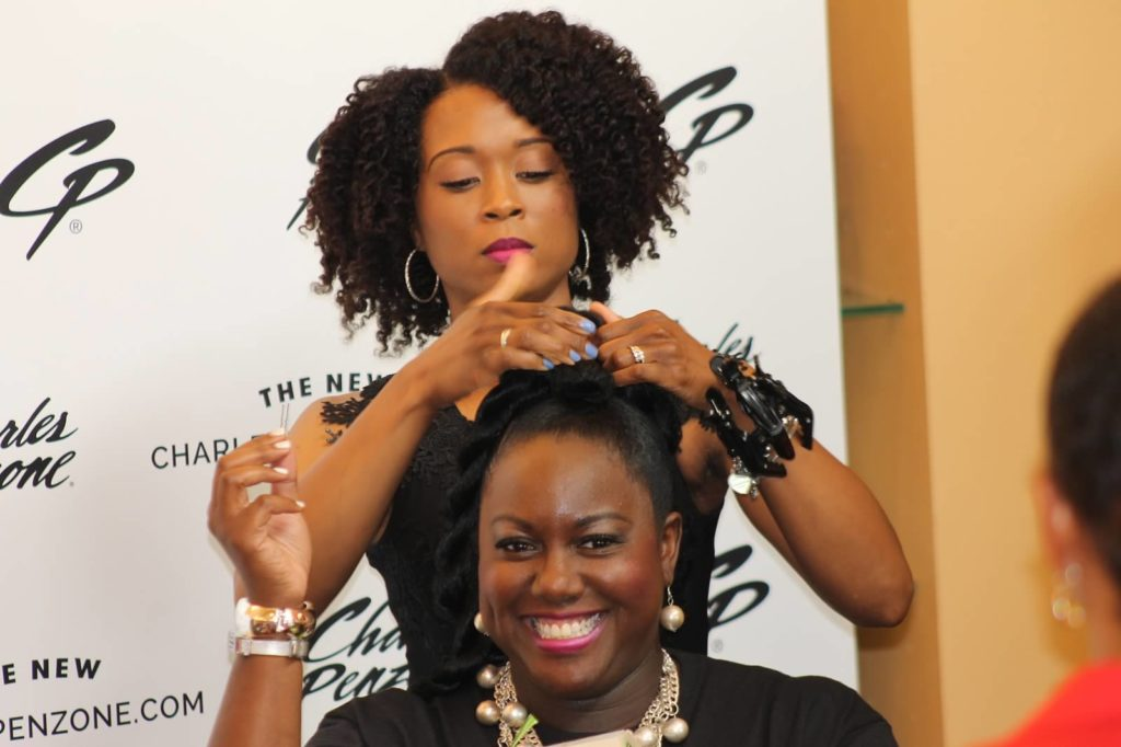 Curly hair demo at Curls Night Out