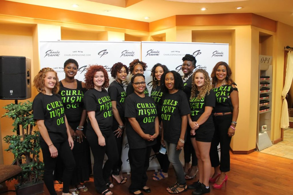 Our Curls Night Out models at the Grand Salon in Gahanna/New Albany
