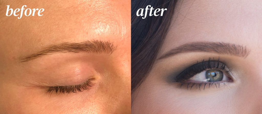 Microblading Before and After at The Charles Penzone Salons