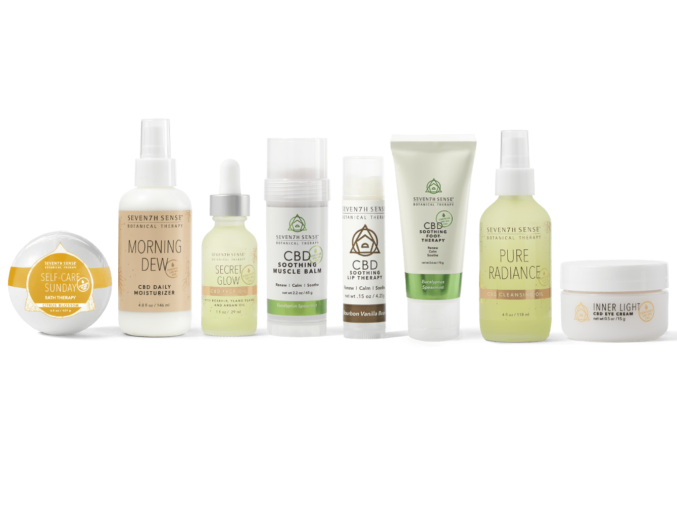 Seventh Sense Botanical Therapy CBD Products