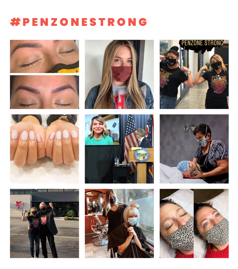 #penzonestrong and Instagram photos.