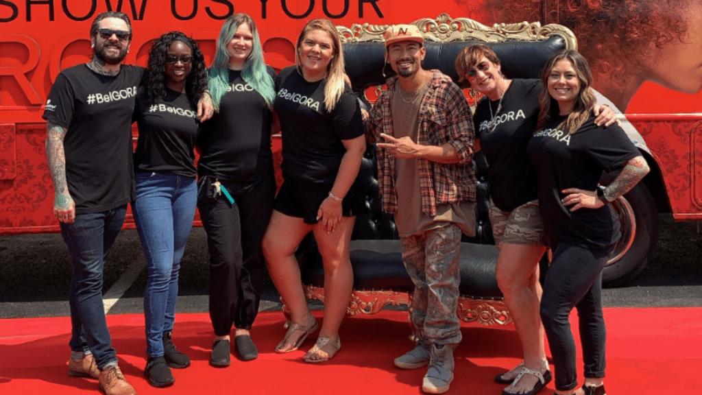 A group of PENZONE hair artists standing together.