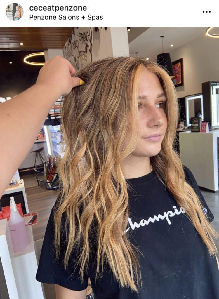 Peach Hair by Cece