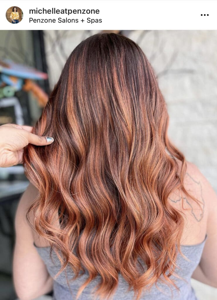 Copper hair by Michelle